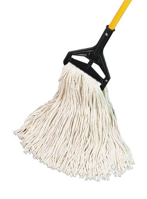 "PRO ADVANTAGE  Wet Mop, Cotton Cut End, 1 1/4"" Headband, #16, 13 oz.  Compare to Newell Rubbermaid Brand FGV116"