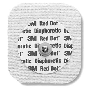 3M™ RED DOT™ DIAPHORETIC SOFT CLOTH MONITORING ELECTRODES : 2231 CS