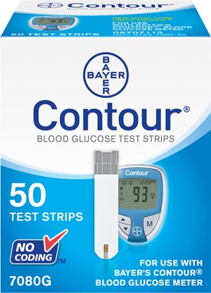 ASCENSIA CONTOUR BLOOD GLUCOSE MONITORING SYSTEM : 7080G BX $81.48 Stocked