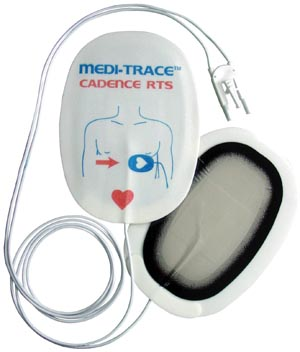 COVIDIEN/MEDICAL SUPPLIES MEDI-TRACE CADENCE™ DEFIBRILLATION ELECTRODES : 22550P PK                       $36.50 Stocked