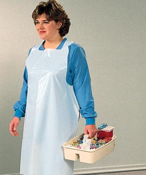 TIDI PREMIUM POLY APRONS : 10418 BX $26.08 Stocked