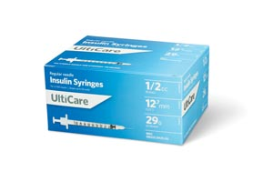 ULTIMED ULTICARE INSULIN SYRINGES : 9259 BX $13.49 Stocked