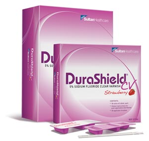 SULTAN DURASHIELD CV CLEAR 5% SODIUM FLUORIDE VARNISH : 31104 BX               $69.26 Stocked