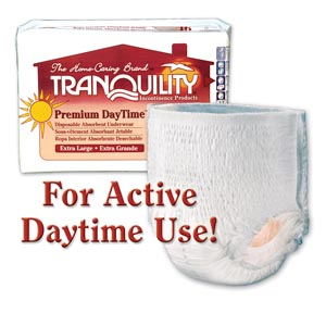 PRINCIPLE BUSINESS TRANQUILITY PREMIUM DAYTIME™ DISPOSABLE ABSORBENT UNDERWEAR : 2107 CS $64.00 Stocked
