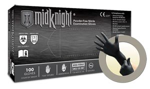 ANSELL MICROFLEX MIDKNIGHT® POWDER-FREE NITRILE EXAM GLOVES : MK-296-S CS