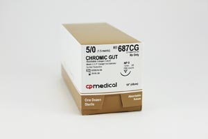 CP MEDICAL CHROMIC GUT NATURAL ABSORBABLE SUTURE : 687CG BX          $37.82 Stocked
