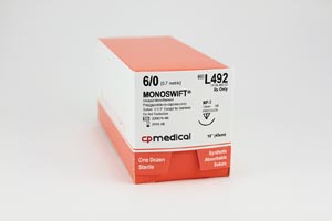 CP MEDICAL MONOSWIFT® ABSORBABLE SUTURE : L492 BX