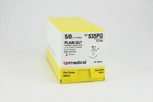 CP MEDICAL PLAIN GUT ABSORBABLE SUTURE : 535PG BX                $43.45 Stocked