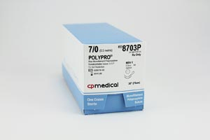 CP MEDICAL POLYPRO NON-ABSORBABLE SUTURE : 8703P BX                    $157.20 Stocked
