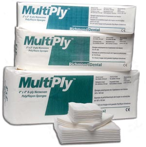 RICHMOND MULTIPLY™ NON-WOVEN SPONGES : 300637 CS $43.84 Stocked