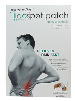 FABRICATION ENTERPRISES POINT RELIEF LIDOSPOT™ TOPICAL ANESTHETIC PATCH : 13-5310-5 PK     $14.82 Stocked