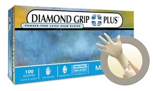 ANSELL MICROFLEX DIAMOND GRIP PLUS™ POWDER-FREE LATEX EXAM GLOVES : DGP-350-S CS  $102.56 Stocked
