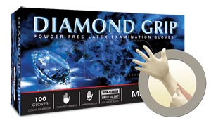 ANSELL MICROFLEX DIAMOND GRIP™ POWDER-FREE LATEX EXAM GLOVES : MF-300-L CS           $124.61 Stocked