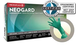 ANSELL MICROFLEX NEOGARD POWDER-FREE MEDICAL-GRADE CHLOROPRENE EXAM GLOVES : C522 BX      $10.47 Stocked