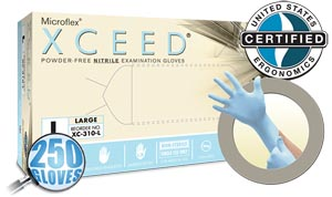 ANSELL MICROFLEX XCEED POWDER-FREE NITRILE EXAM GLOVES : XC-310-M CS                       $159.64 Stocked