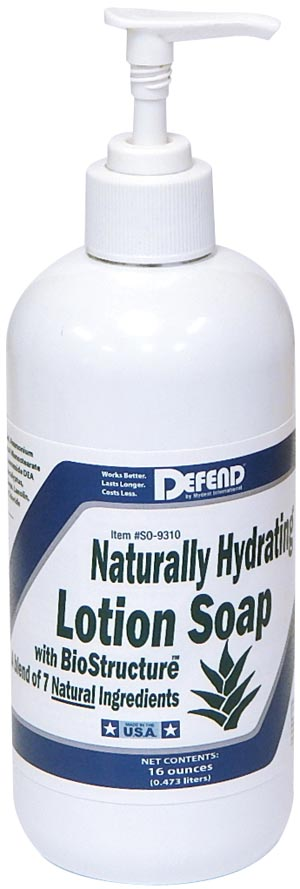 MYDENT DEFEND NATURALLY HYDRATING LOTION SOAP : SO-9310 CS                                                                                                                                                                                            $111.54 S