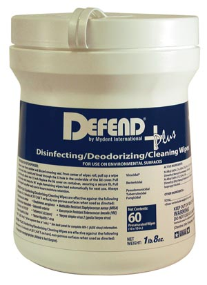 MYDENT DEFEND+PLUS DISINFECTING/DEODORIZING/ CLEANING WIPES : SO-9001 CS