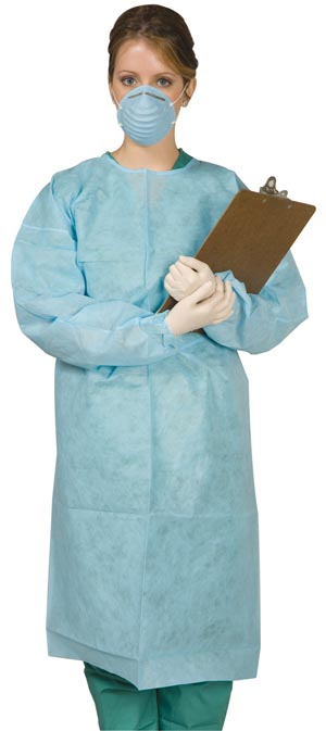 MYDENT DISPOSABLE TIE-BACK PROTECTIVE GOWN : SG-1000 CS                       $83.85 Stocked