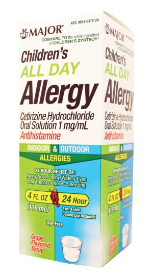 MAJOR ALLERGY LIQUID : 255014 EA