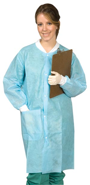MYDENT DEFEND DISPOSABLE LAB COATS : SG-9003 BG $13.79 Stocked
