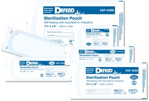 MYDENT DEFEND+PLUS STERILIZATION POUCHES : SP-1500 BX $8.05 Stocked