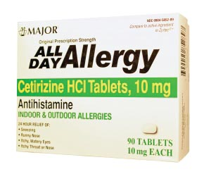 MAJOR ALLERGY TABLETS : 255550 EA $6.55 Stocked