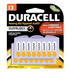 DURACELL HEARING AID BATTERY : DA13B16 CS $498.89 Stocked