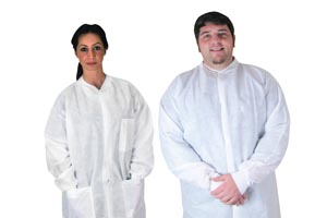 DUKAL ANTISTATIC POCKET LAB COATS : 343P CS $63.05 Stocked