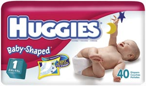 KIMBERLY-CLARK HUGGIES� LITTLE SNUGGLERS DIAPERS : 55701 CS $54.10 Stocked