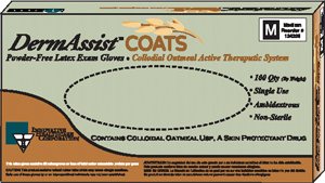 INNOVATIVE  DERMASSIST COATS™  POWDER-FREE LATEX EXAM GLOVES : 124100 BX $5.75 Stocked