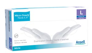 ANSELL MICRO-TOUCH NITRILE E.P. TEXTURED EXAMINATION GLOVES : 6034053 BX            $18.25 Stocked