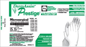 INNOVATIVE DERMASSIST® PRESTIGE® MICROSURGICAL POWDER-FREE SURGICAL GLOVES : 137850 BX