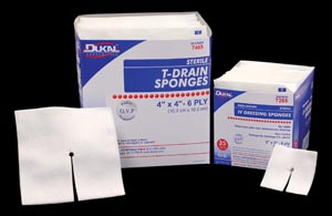 DUKAL IV & T-DRAIN SPONGES : 7468 CS                 $60.37 Stocked