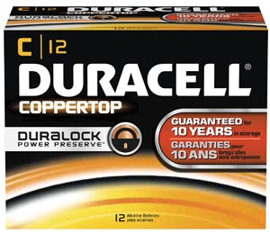 DURACELL COPPERTOP ALKALINE BATTERY WITH DURALOCK POWER PRESERVE™ TECHNOLOGY : MN1400 PK                   $18.03 Stocked