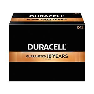 DURACELL COPPERTOP ALKALINE BATTERY WITH DURALOCK POWER PRESERVE™ TECHNOLOGY : MN1300 CS                       $100.15 Stocked