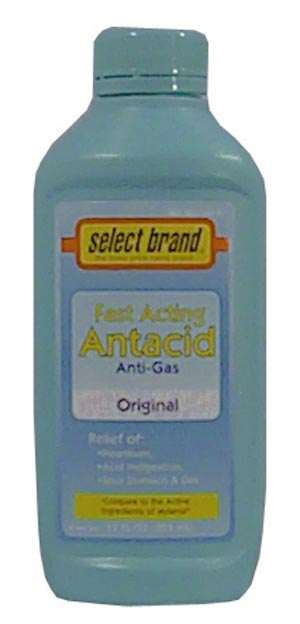 SAJ SELECT BRAND ANTACIDS-ANTIGAS : 7240021 CS $33.70 Stocked