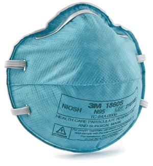 3M™ N95 PARTICULATE RESPIRATOR & SURGICAL MASK : 1860S BX