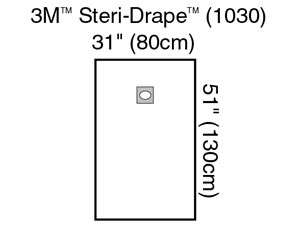 3M™ STERI-DRAPE™ OPHTHALMIC SURGICAL DRAPES : 1030 BX             $71.43 Stocked