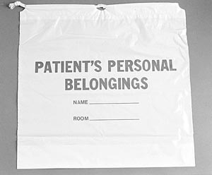 ADI PATIENT PERSONAL BELONGINGS BAGS : 40219 CS $46.49 Stocked