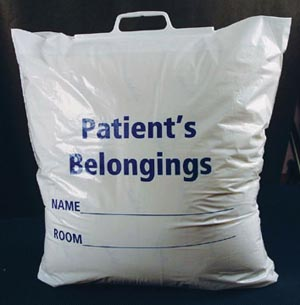 ADI PATIENT PERSONAL BELONGINGS BAGS : 40229 CS $61.26 Stocked