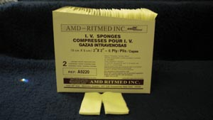 AMD MEDICOM TRACH & IV NON-WOVEN DRESSING SPONGES : A9220 PK            $2.44 Stocked