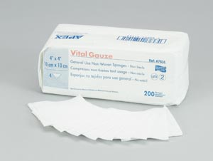 AMD MEDICOM VITAL-GAUZE MULTI-PURPOSE GAUZE SPONGES : A2338 CS