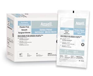 ANSELL GAMMEX NON-LATEX PI MICRO WHITE SURGICAL GLOVES : 20685980 BX               $148.82 Stocked