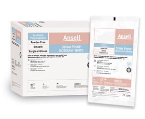 ANSELL GAMMEX NON-LATEX PI WHITE POWDER-FREE SYNTHETIC SURGICAL GLOVES : 20685755 BX $148.82 Stocked
