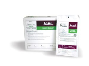 ANSELL ENCORE ACCLAIM™ POWDER-FREE LATEX SURGICAL GLOVES : 5795004 BX                       $68.45 Stocked