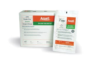 ANSELL ENCORE MICROPTIC POWDER-FREE LATEX SURGICAL GLOVES : 5787003 CS $253.50 Stocked