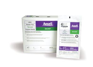 ANSELL ENCORE POWDER-FREE STERILE SURGICAL GLOVES : 5785003 BX                       $68.45 Stocked