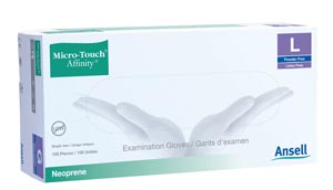 ANSELL MICRO-TOUCH AFFINITY™ SYNTHETIC EXAM GLOVES : 3774 BX                     $9.41 Stocked