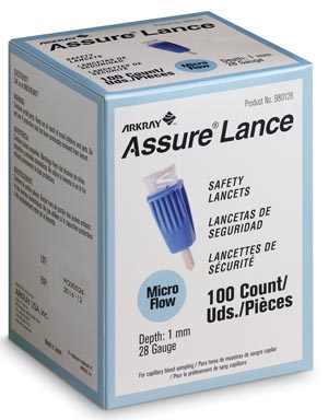 ARKRAY ASSURE LANCE SAFETY LANCETS : 980128 BX                     $11.40 Stocked