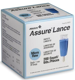 ARKRAY ASSURE LANCE SAFETY LANCETS : 980228 BX     $20.85 Stocked